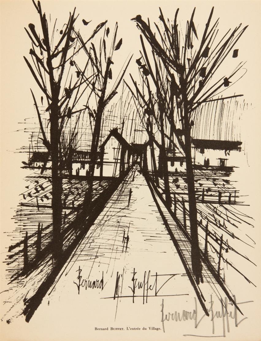 B. Buffet u.a. / J. Giono, Routes & chemins avec Jean Giono et 56 peintres témoins de leur temps. Paris 1962. - Ex. 22/125.