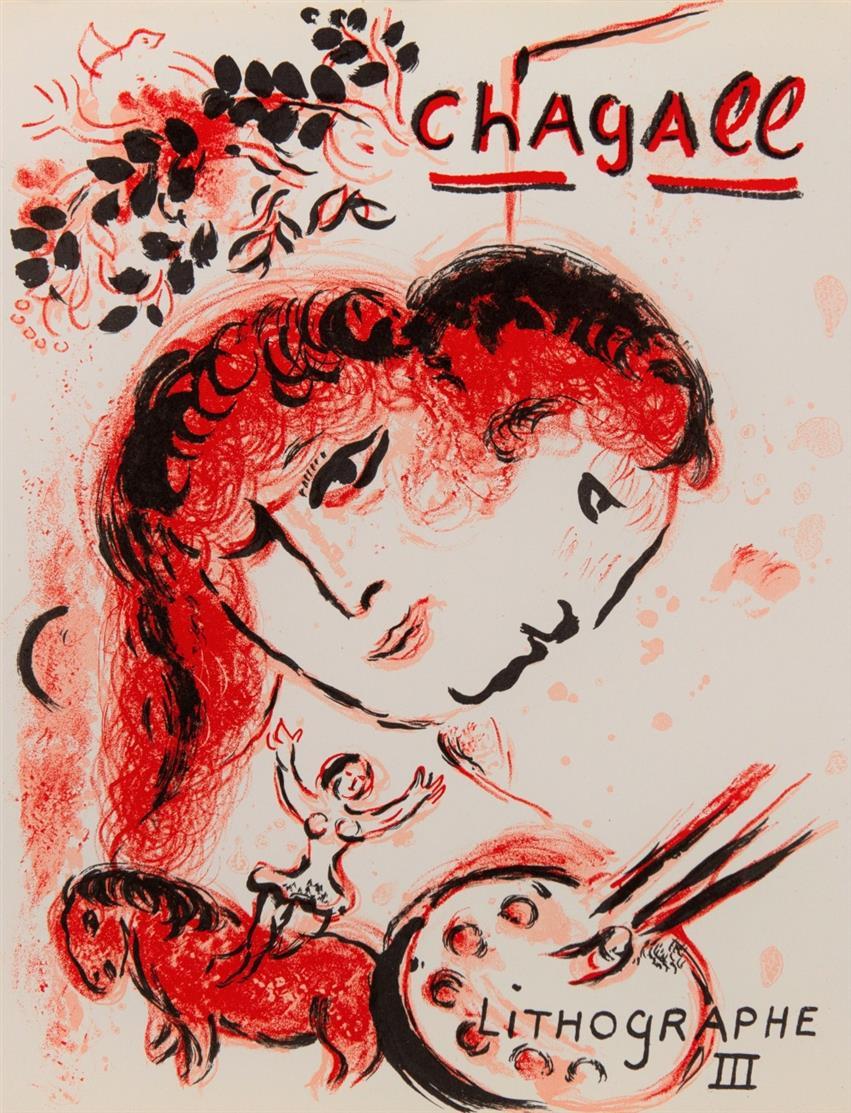 F. Mourlot u.a., Chagall Lithograph I-VI (dt. Ausg.). 6 Bde. Monte Carlo 1960-86.