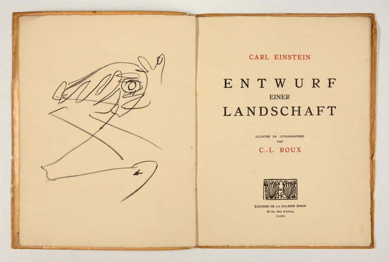 C. Einstein / G.-L. Roux, Entwurf einer Landschaft. Paris 1930. - Ex. VIII/X.