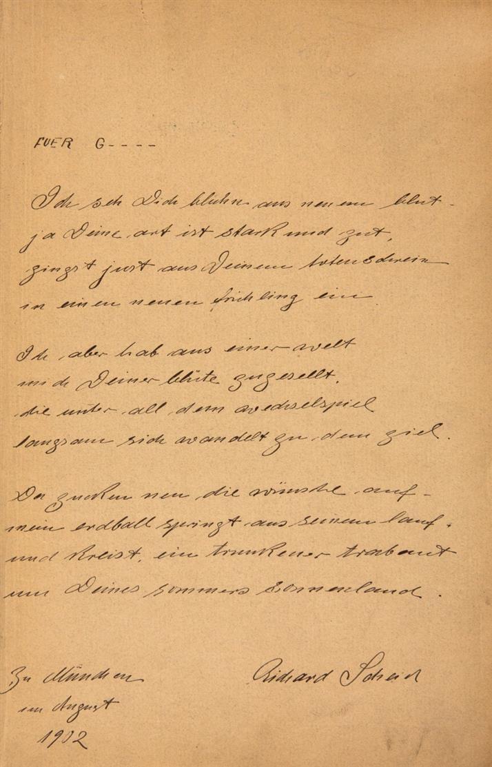 Avalun, Jahrbuch neuer deutscher lyrischer Wortkunst. Mchn. 1901. - Mit eigh. Gedicht des Hrsgs. R. Scheid.