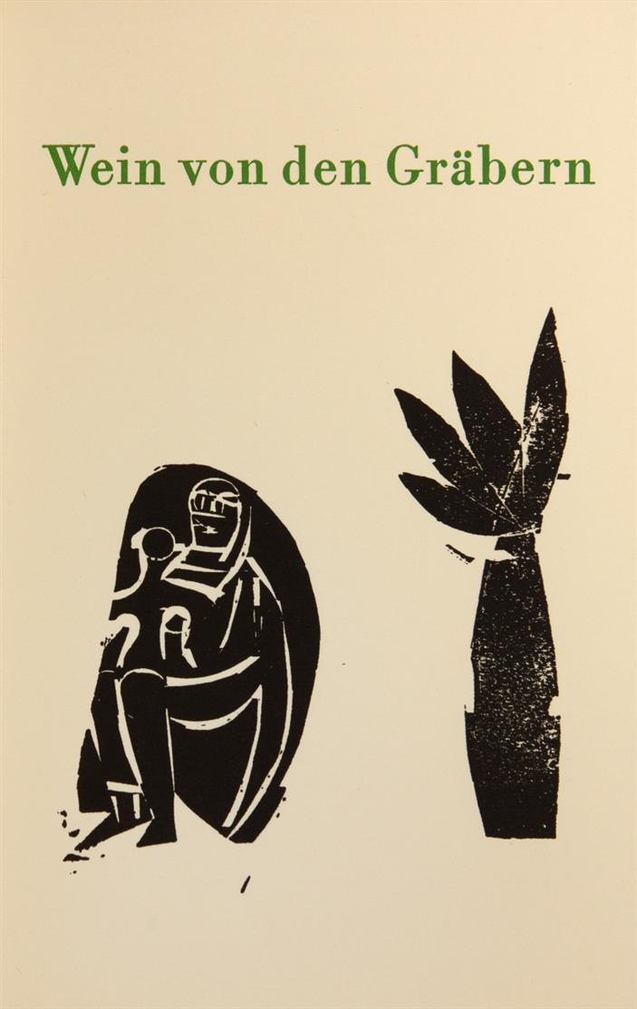 W. Schmied / HAP Grieshaber, Wein von den Gräbern. Wülfrath 1962. - Ex. 127/165 (num. 51-165).