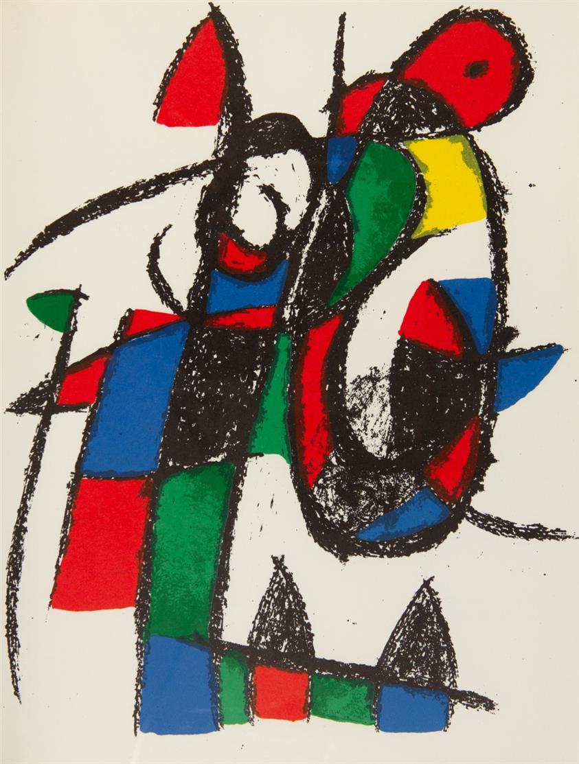 J. Miró / F. Mourlot u.a., Lithographe/Lithograph I-IV. Paris 1972-82. - Bd. I (fr.), Bde. II-IV (dt.)