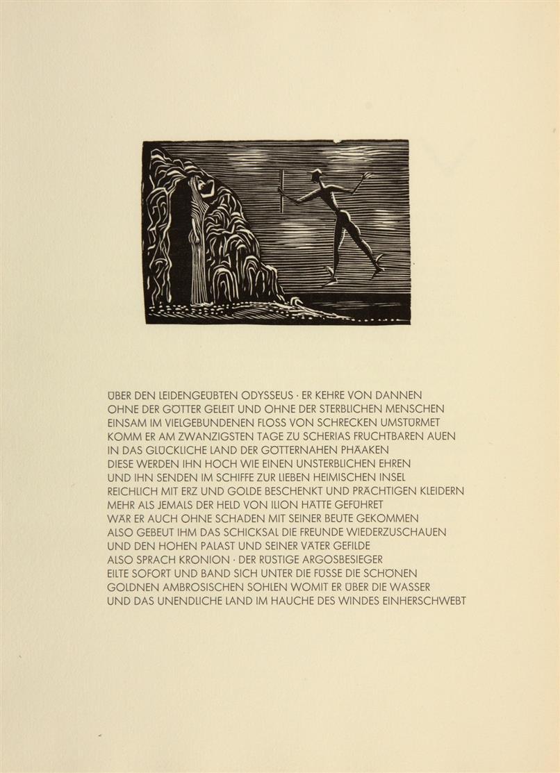 G. Marcks/Homer, Fünf Gesaenge der Odyssee. Hbg. 1963. - Ex. 283/300.