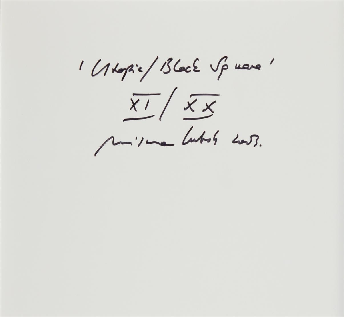 Mischa Kuball. Utopie / Black Square. 2001 (2003). C-Print. Verso signiert. Ex. XI/XX.
