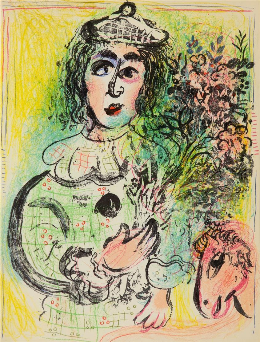 F. Mourlot, Ch. Sorlier u.a., Chagall Lithograph II -IV (franz./engl. Mischausg.). 3 Bde. Monte Carlo 1963-1974.