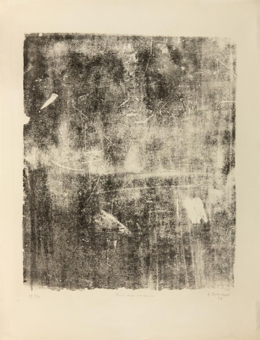 Jean Dubuffet. Mur aux souvenirs. 1958. Lithographie. Signiert. Ex. 19/30. Webel 459.