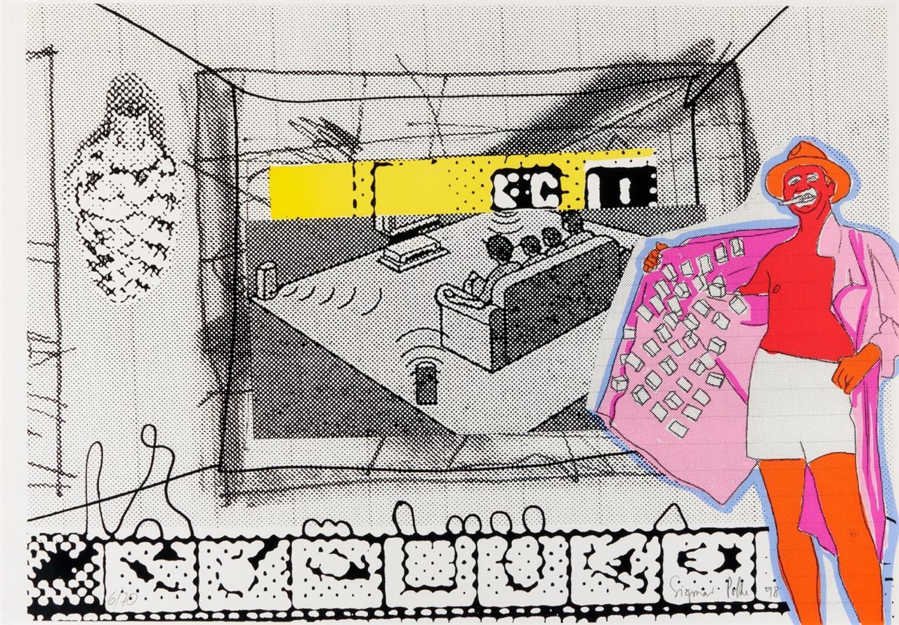 Sigmar Polke. Filmverführung. 1998. Farbserigraphie. Signiert. Ex. 6/70.
