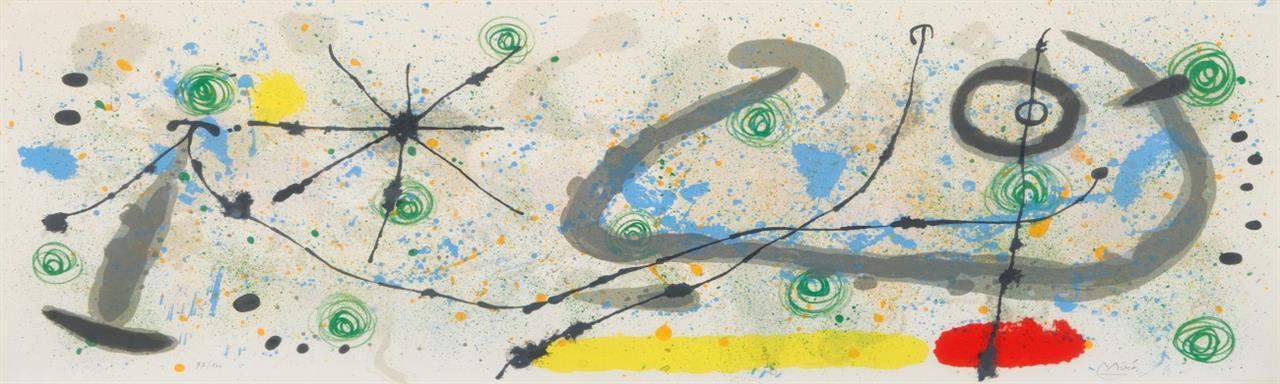 Joan Miró. Aus: Le Lézard aux plumes d'or. 1967. Farblithographie. Signiert. Maeght 520.