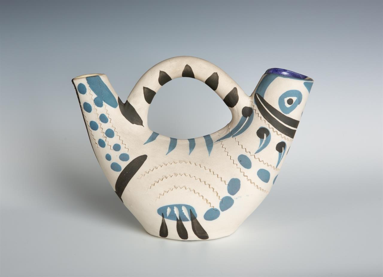 Pablo Picasso. Pichet espagnol. 1954. Keramik, glasiert. Ex. 179/200. Madoura. Ramié 245.