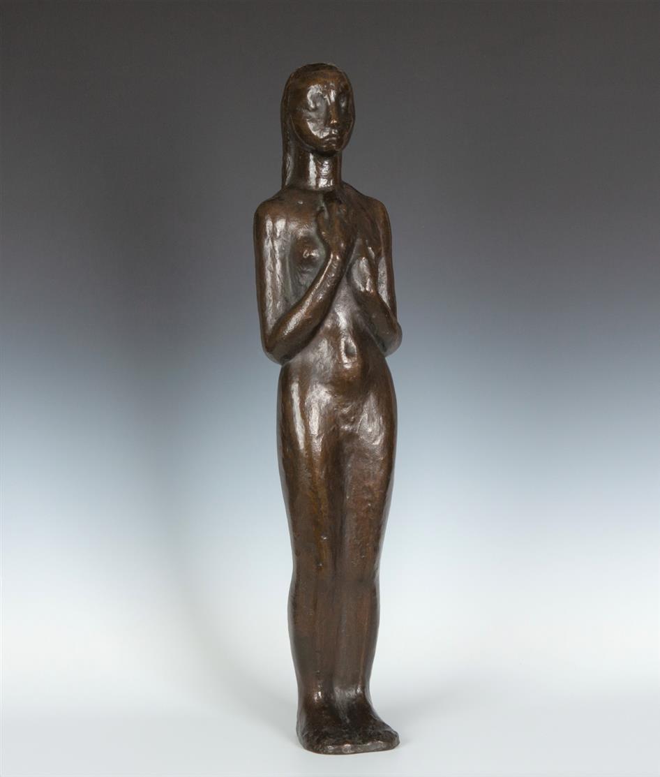 Annemarie Rommerskirchen. Schweigende. Bronze.