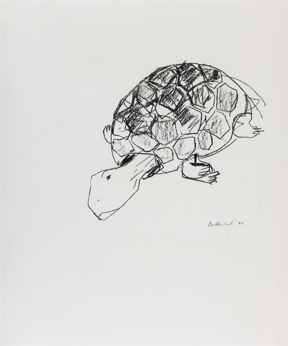Stephan Balkenhol. 3 Blatt Lithographien aus Griffelkunst. 1994. Signiert. Griffelkunst 277 C 3-5.