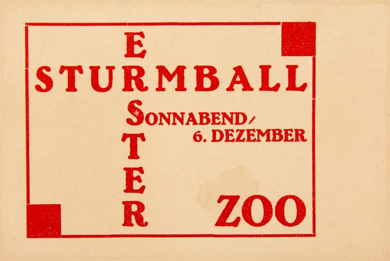 Der Sturm. - 2 Einladungskarten, 1924: Sturm-Abende 1.-29. Okt. / Erster Sturmball 6. Dez.