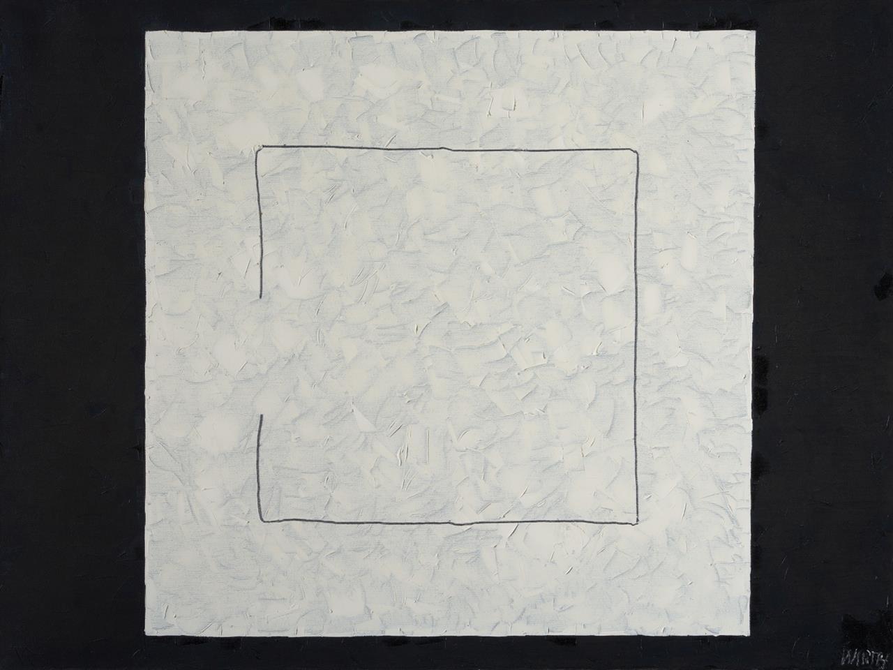 Franz Milan Wirth. Offenes Quadrat. No. 22. Öl auf Leinwand. Signiert.