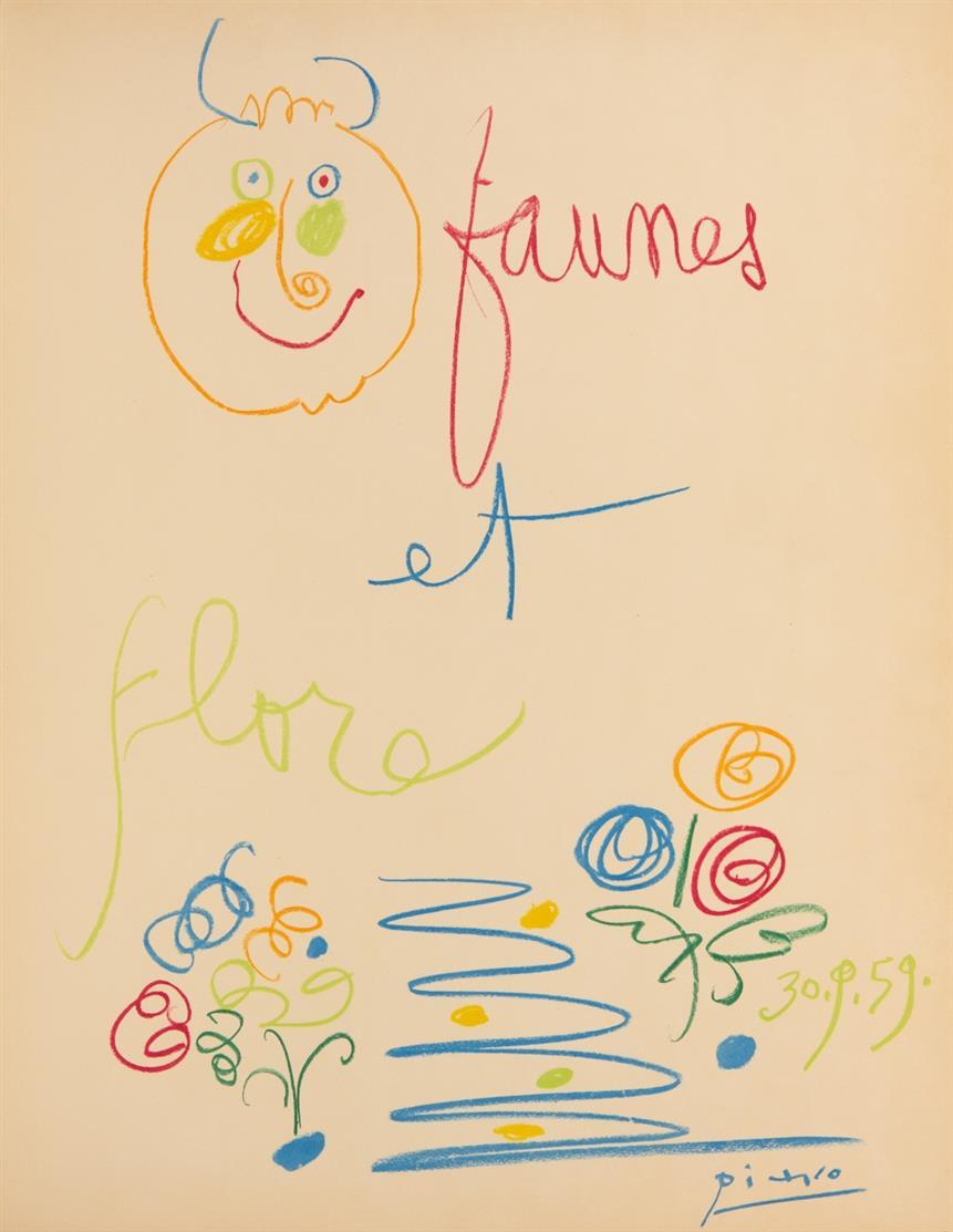 P. Picasso, Faunes et flore d'Antibes. Préf. de J. Sabartès. Paris 1960. - Ex. 123/175.