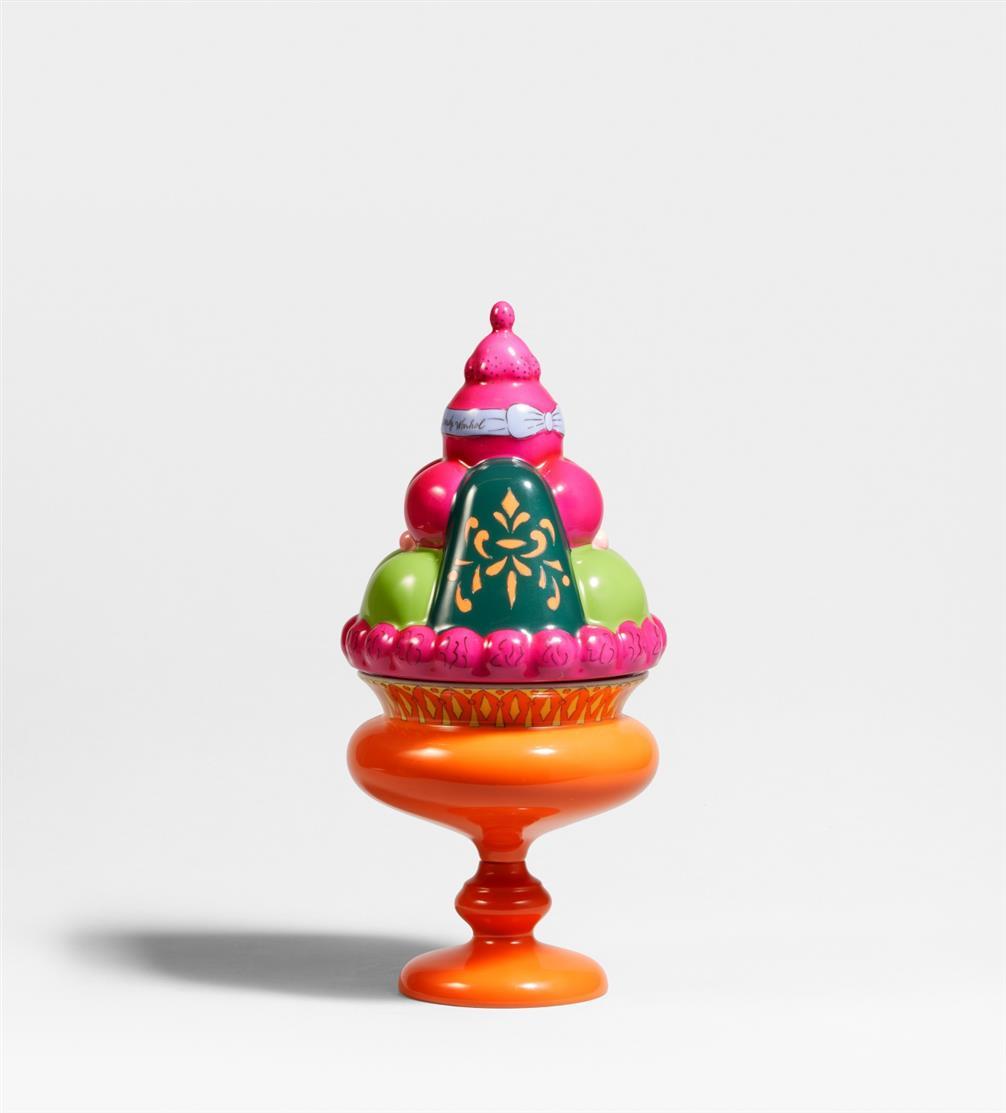 Andy Warhol. So Sweet Cake. Zweiteilige Porzellankeramik in Holzkasten. Rosenthal studio line. Ex. 28/99.