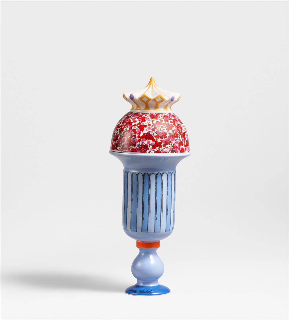 Andy Warhol. So Sweet Sundae. Zweiteilige Porzellankeramik in Holzkasten. Rosenthal studio line. Ex. 17/99.
