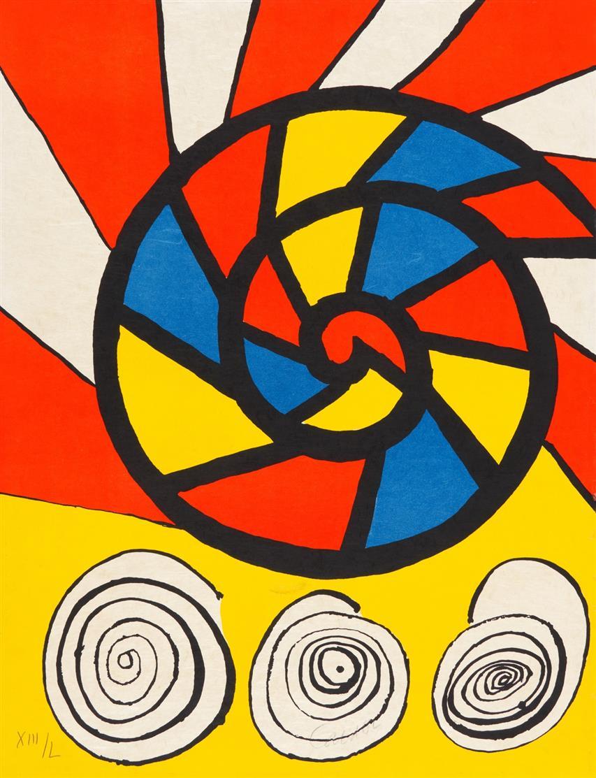 Alexander Calder. Ohne Titel. (1976). Farblithographie. Signiert. Ex. XIII/L.