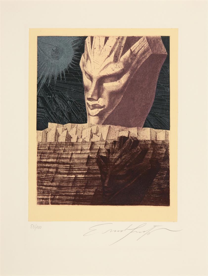 Odradek. Die Realität des  Unverständlichen. 13 Radierungen zu Kafka (Ackermann, Hrdlicka, Fuchs, Meckseper, Rainer u.a.). 1971 - Ex. 53/100.