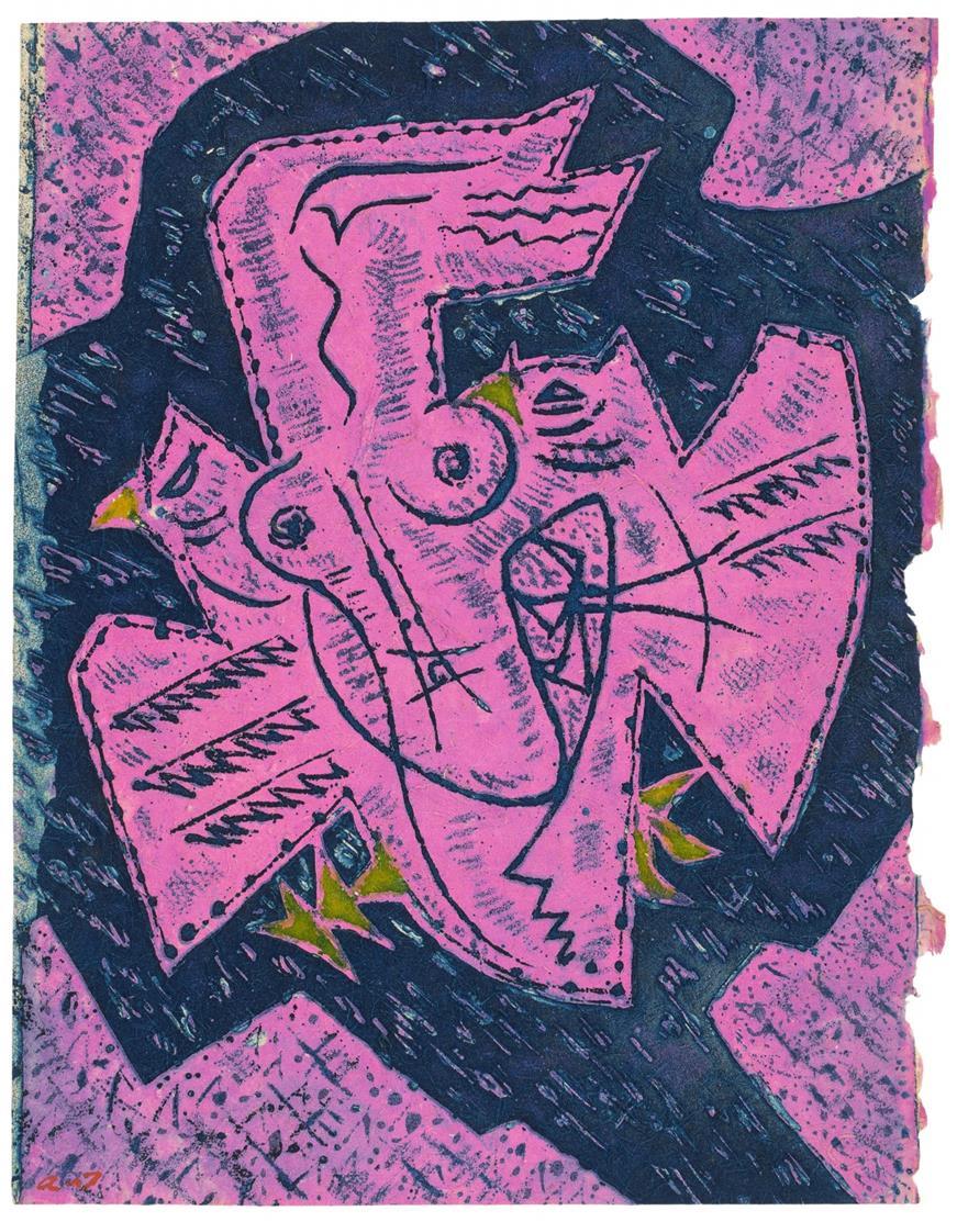 KEIN NACHVERKAUF: A. Masson / J. Paulhan, Les Hain-Teny. Paris 1956. - Ex. 94/100. / Dazu Suite von 11 Radierungen (1 wdh. auf anderem Papier).