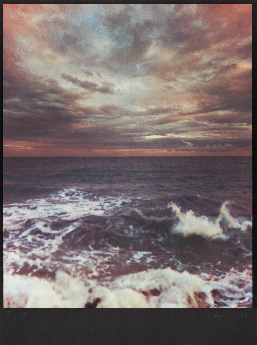 Gerhard Richter. Seestück II. 1970. Farboffset. Signiert. Ex. 89/100. Butin 31.