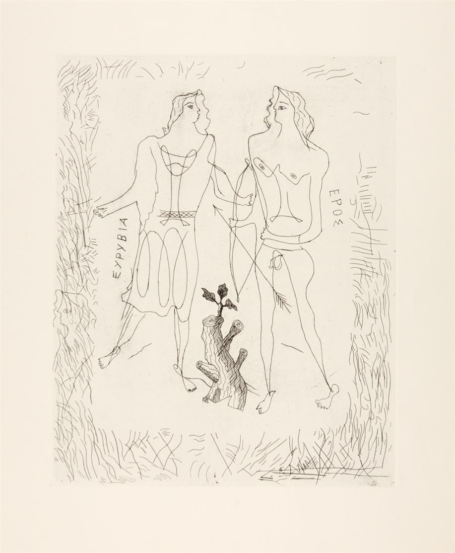 Georges Braque. Eurybia und Eros. Radierung. Nicht signiert. Vallier 21.