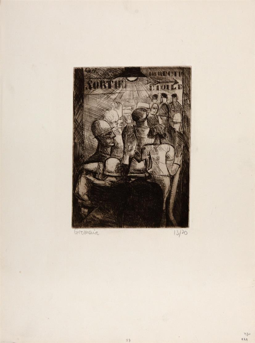 Marcel Gromaire. Ohne Titel. Radierung. Signiert. Ex. 13/20.