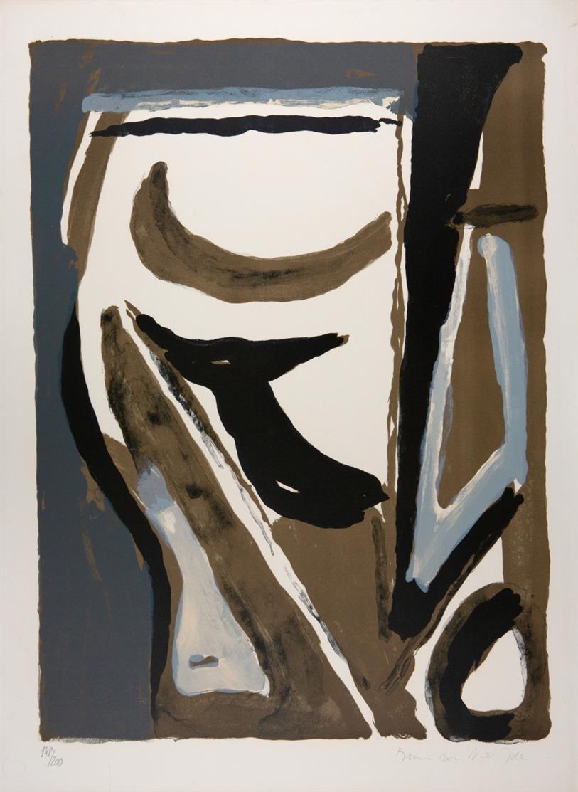 Bram van Velde. Ohne Titel. 1970. Farblithographie. Signiert. Ex. 148/200. Rivière 64.