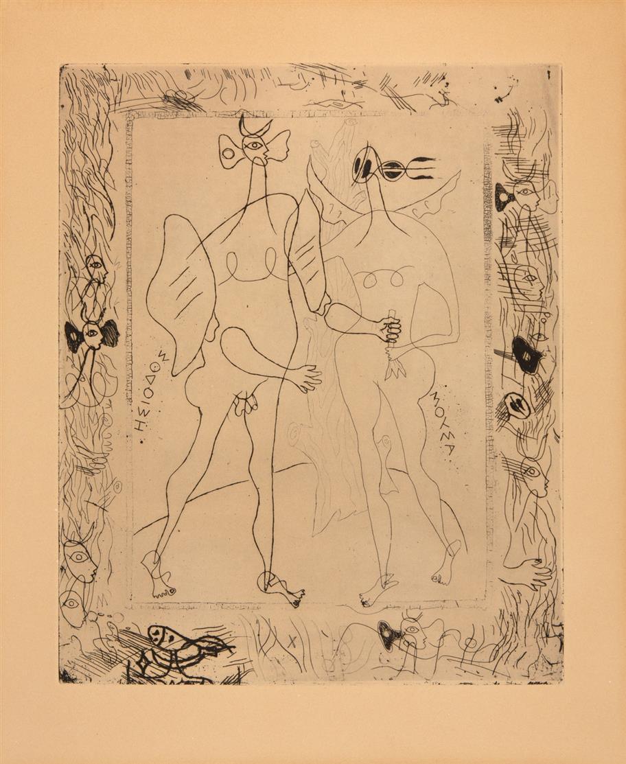 Georges Braque. Aus: La Théogeonie d'Hésiode. Radierung. Nicht signiert. Vallier 20 a.