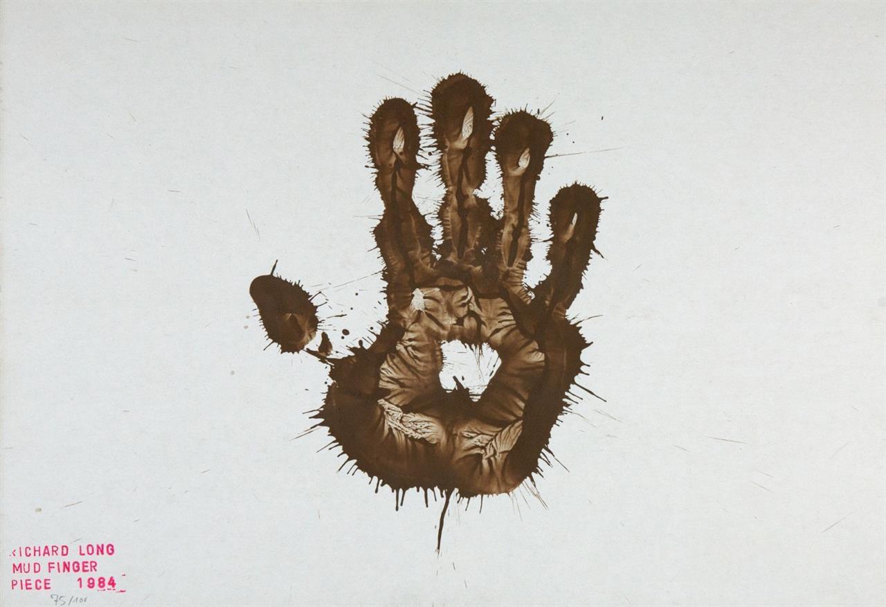 Richard Long. Mud Finger Piece. 1984. Monotypie. Gestempelt. Ex. 75/100.