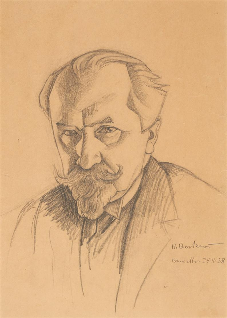 Henryk Berlewi. Porträt. 24.11.28. Bleistift. Signiert.
