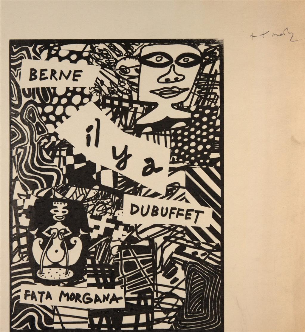 Jean Dubuffet. Aus: Il y a. 1979. Serigraphie, 2 Exemplare, eines mit hs. Vermerk. Nicht signiert. Vgl. Webel 1245.