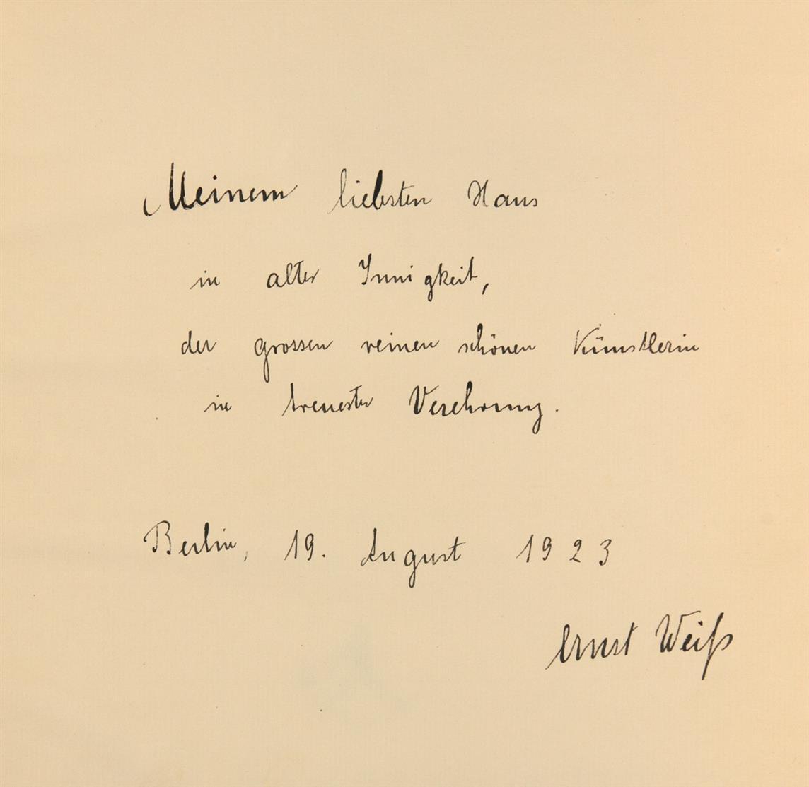 E. Weiß / L. Meidner, Die Feuerprobe. Berlin 1923. - Ex. XI/XXV der Ausg. 'A' (insges. 675 Ex.).