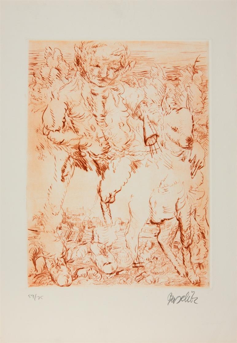 Kölner Kunstmarkt 1967. Mappe mit 19 signierten OrGraphiken + 2 Textheften. Ex. 134/150.