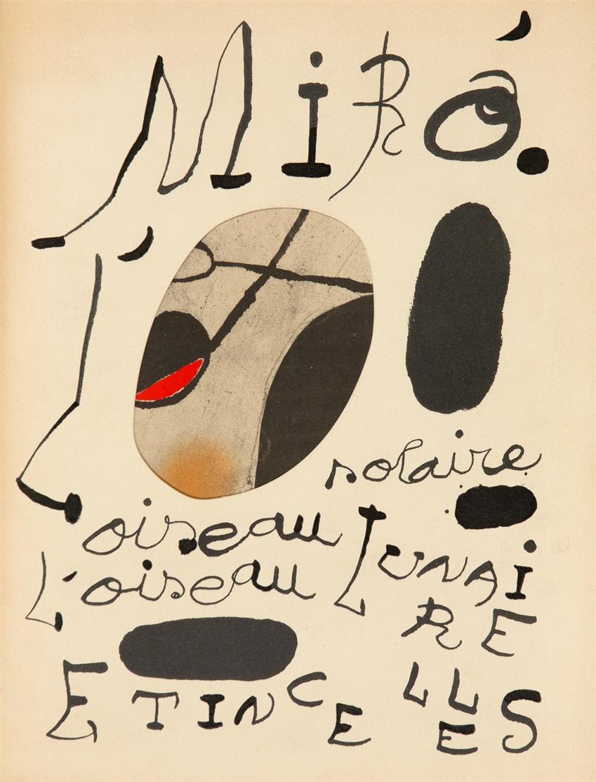J. Miró, Oiseau solaire, Oiseau lunaire, Étincelles. New York 1967. Ex. 905/1200.
