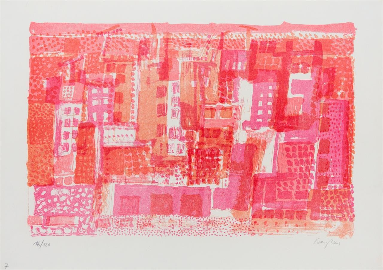 Eduard Bargheer. Landschaften. 5 Blatt Farblithographien. Je signiert. Rosenbach 194, 227, 228, 338 bzw. nicht bei Rosenbach.