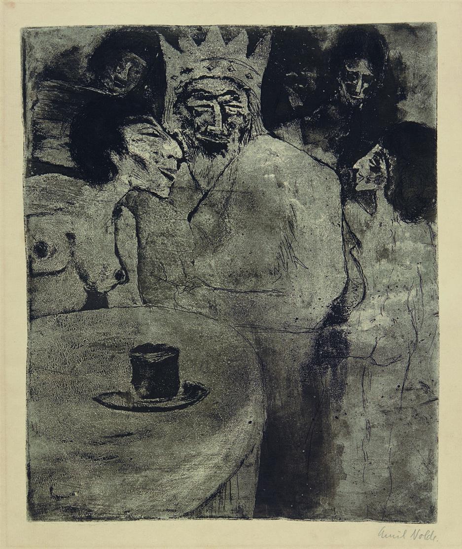 Emil Nolde. Salomo und seine Frauen. 1911. Radierung. Signiert. Schiefler/Mosel R 153 II.