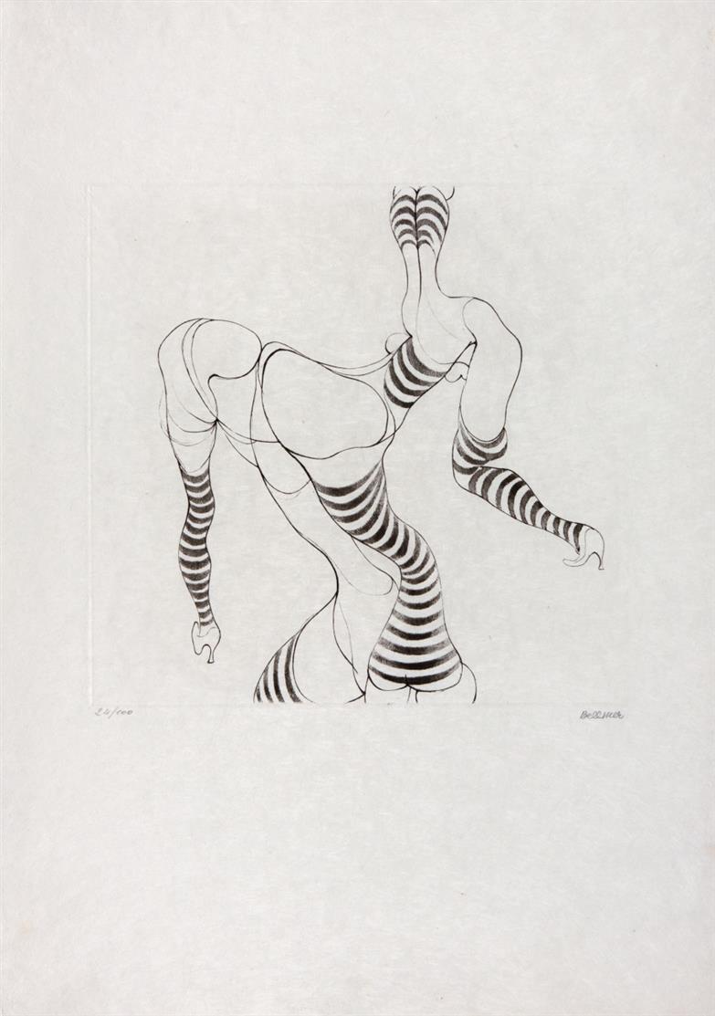 Hans Bellmer. Ohne Titel. 1967. Radierung. Signiert. Ex. 24/100. Mandiargues 75.