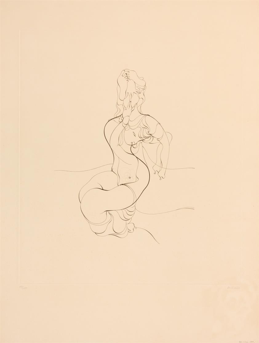 Hans Bellmer. Anatomie des Bildes (Anatomie de l'image). 1967. Radierung. Signiert. Ex. 43/100. Mandiargues 77.
