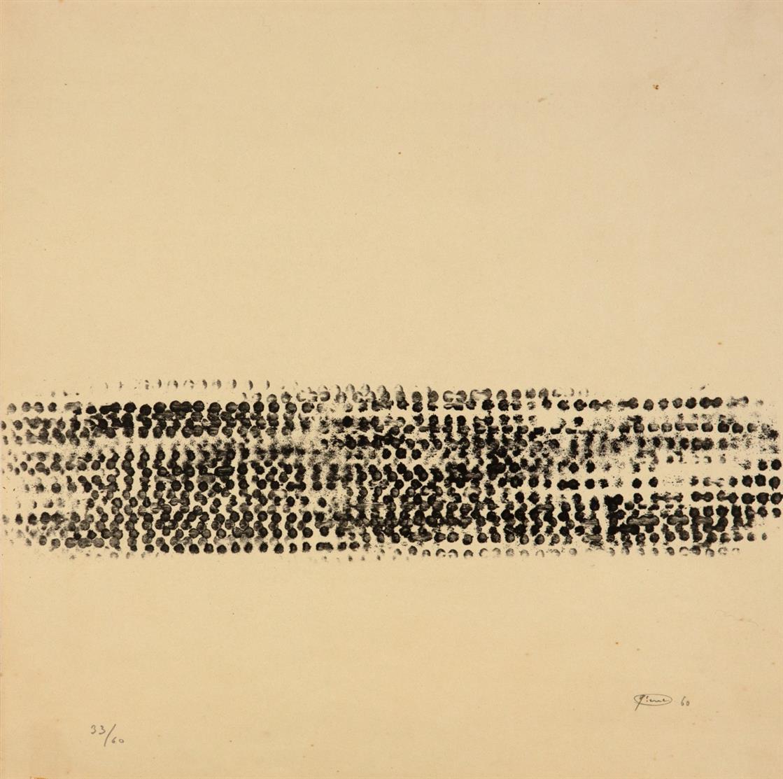 Otto Piene. Ohne Titel. 1960. Lithographie. Signiert. Ex. 33/60. Rottloff 1.