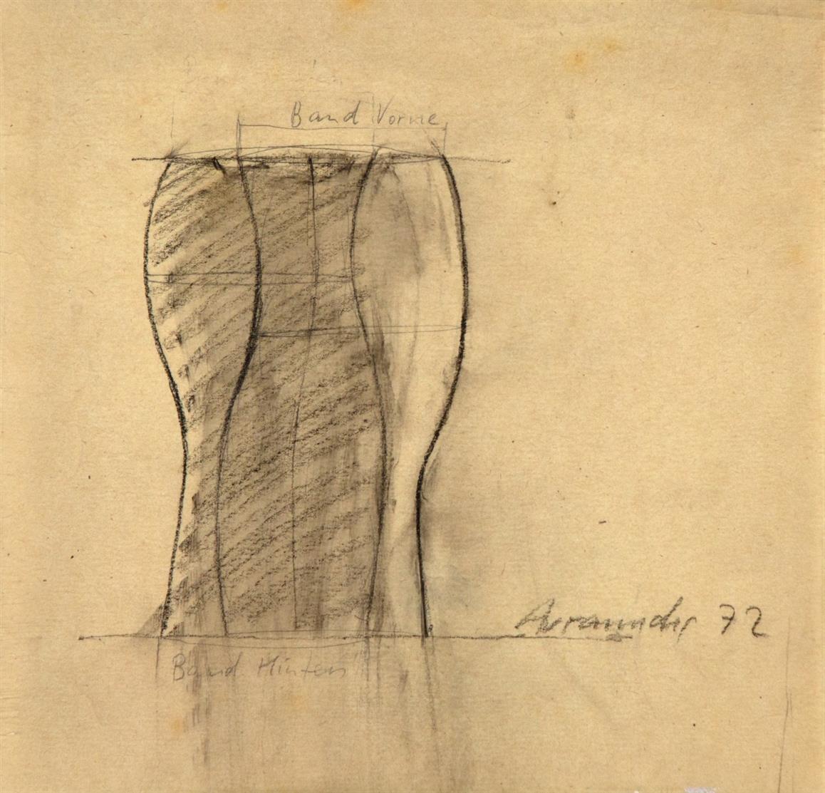 Joannis Avramidis. Ohne Titel. 1972. Kreide und Bleistift. Signiert.