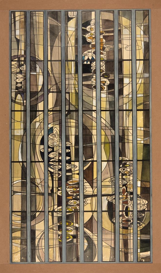 Victor Bonato. 1 of 3 Windows Envisioned; Evangelican Church of Christ. San Diego, Cal. 1963.