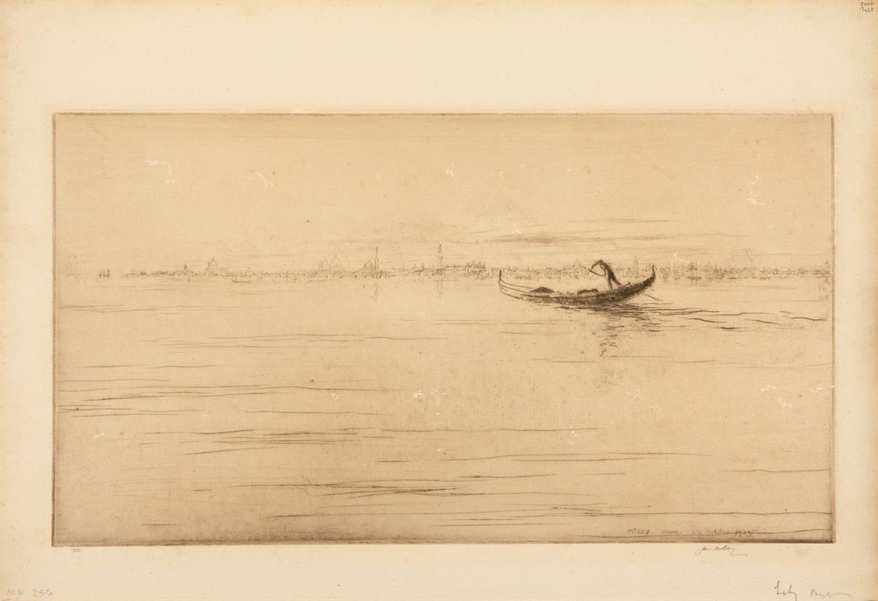 James McBey. The White Palace / Farewell to Venice. 2 Blatt Radierungen. Jeweils signiert. Ex. LX bzw. VIII.