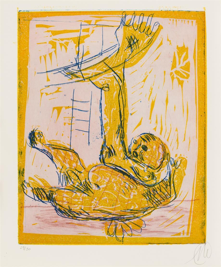 M. Lüpertz/ G. Carandente, Markus Lüpertz. Le grandi Monografie. Mailand 1994. - Ex. 29/30, sign.  - Mit 6 sign. und num. OrGraphiken.