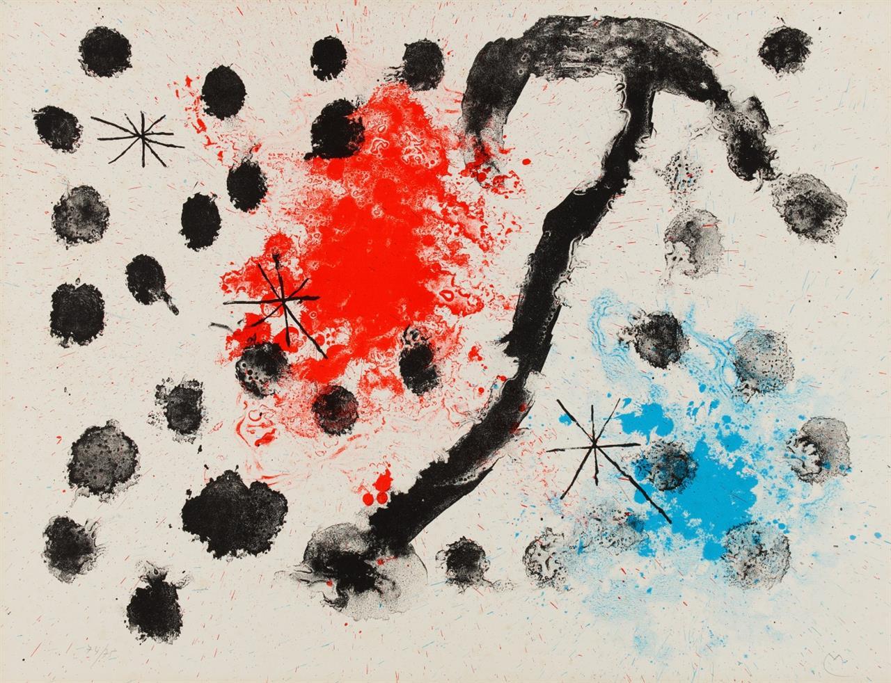 Joan Miró. Aus: Album 19 (pl. 11). 1961. Farblithographie. Monogrammiert. Ex. 74/75. Maeght 322.