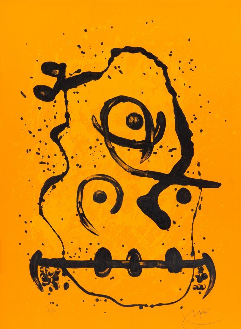 Joan Miró. The Polyglot Man - Orange. 1969. Farblithographie. Signiert. Ex. 50/75. Maeght 603.