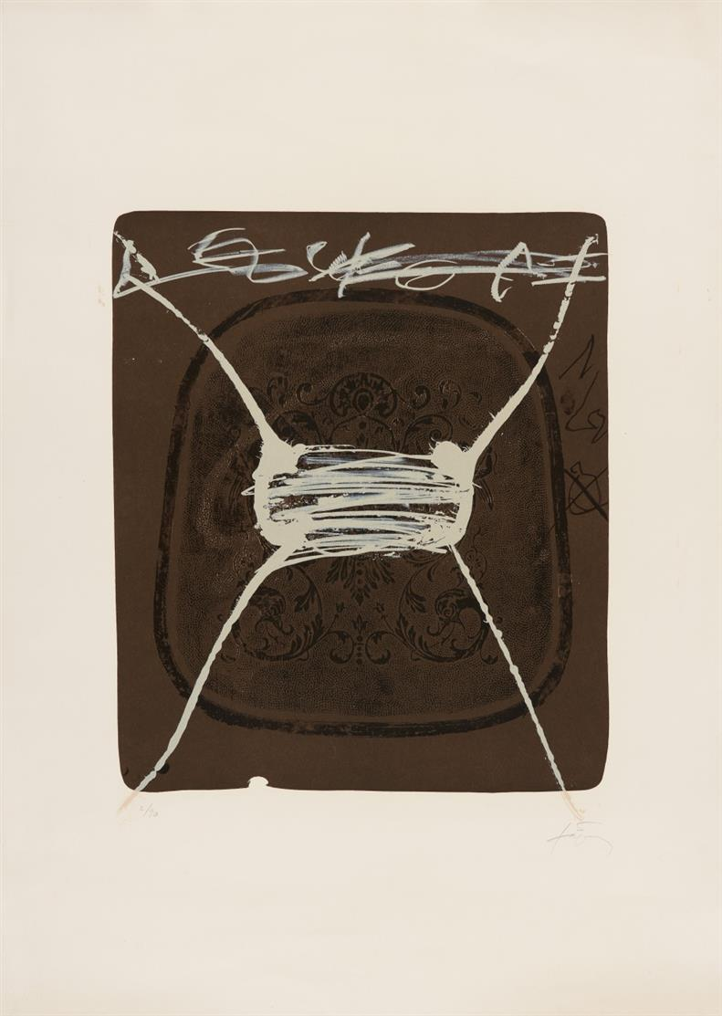 Antoni Tàpies. Cherubins (aus: Variations). 1984. Farblithographie. Signiert. Ex. 2/90. Galfetti/Homs 997.