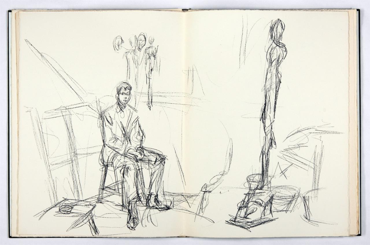 Derrière le miroir. - Alberto Giacometti (N° 127). Paris 1961. - Ex. 131/150.