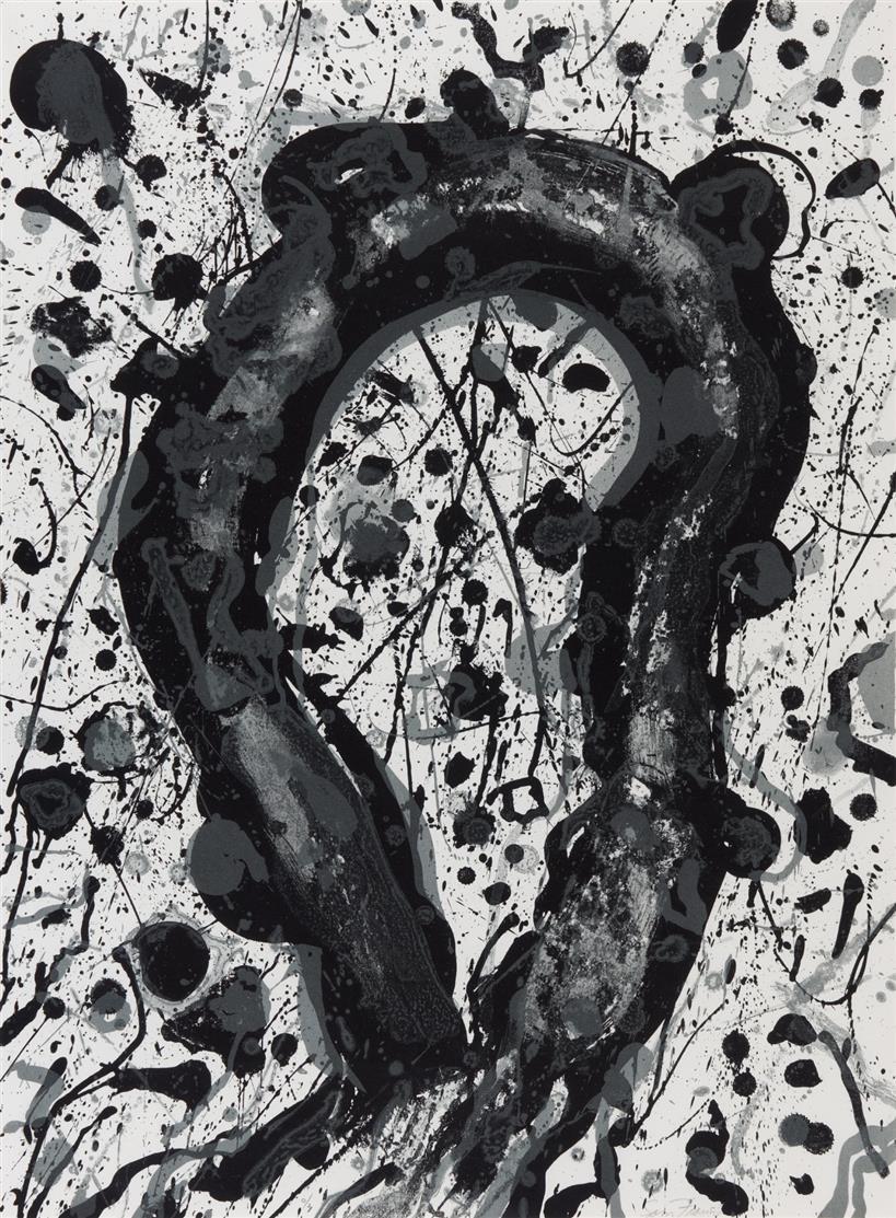 Sam Francis. Ohne Titel (Aus Michel Waldberg: Poèmes dans le ciel). 1986. Lithographie. Signiert. Ex. O/Z. L 270.