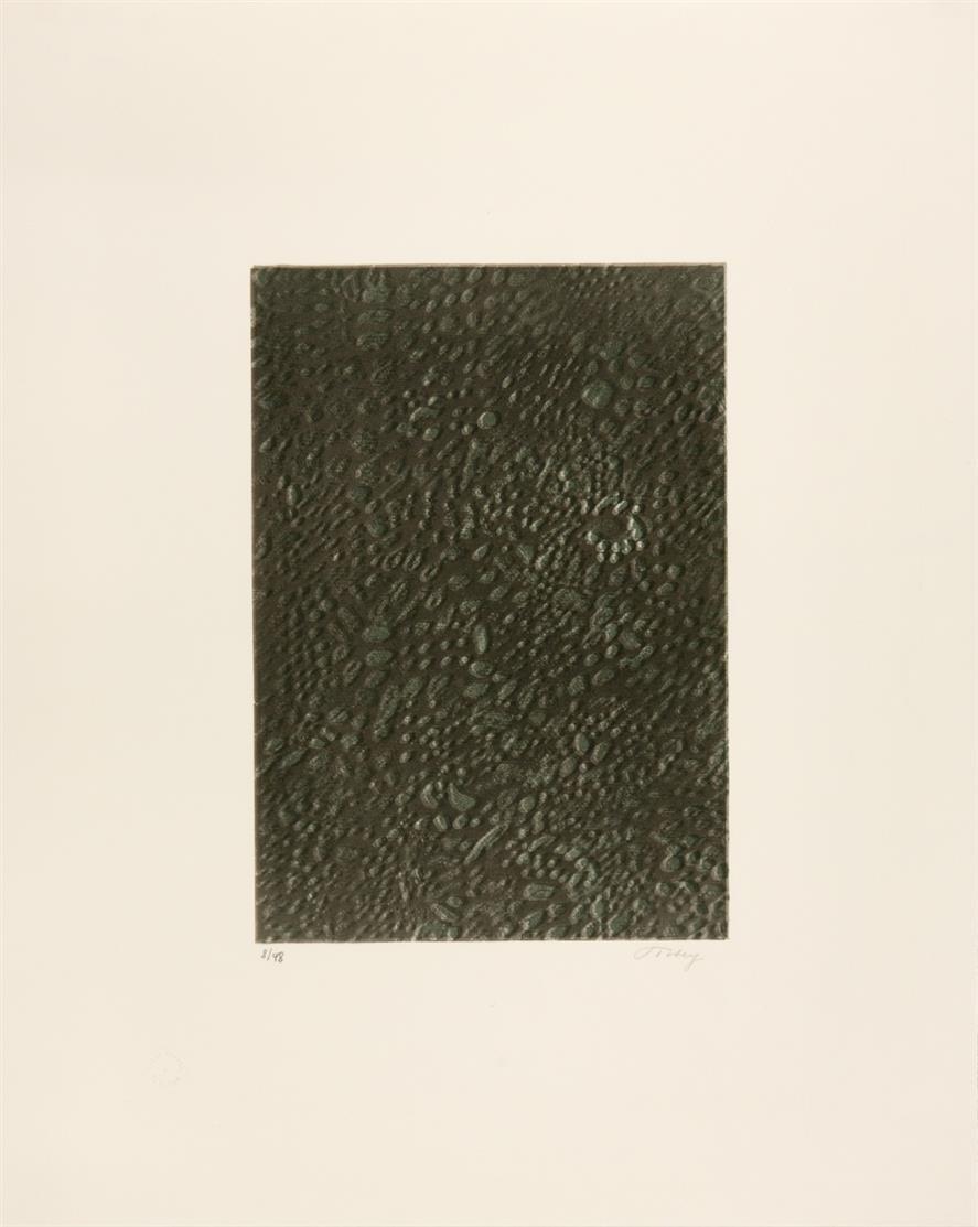 Mark Tobey. Awakening-Night, 1974 / Ohne Titel / Ohne Titel. 3 Blatt Lithographien (2) und Radierung. Signiert.