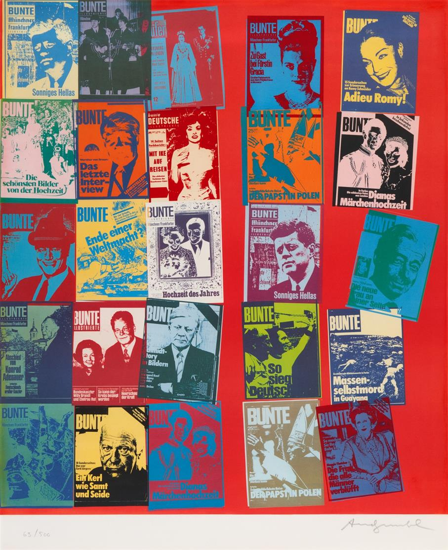 Andy Warhol. Magazine and History. 1983. Farbserigraphie mit Offsetlithographie. Signiert. Ex. 63/500. Schellmann 304a.